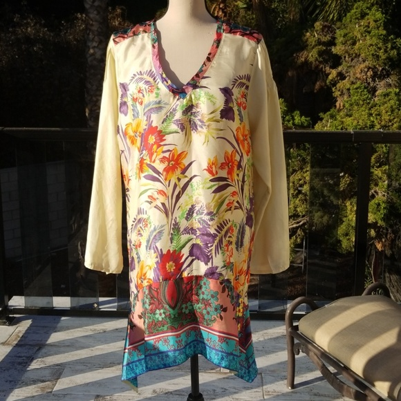 61abad1900a1c Nwot Johnny Was Silk Tunic size L